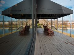 Lighthouse Knoxville - The Main Event outdoor deck (located pond side).
