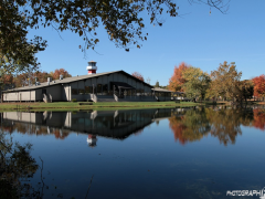 Lighthouse Knoxville event center, located on a large pond in a close-to-country setting.