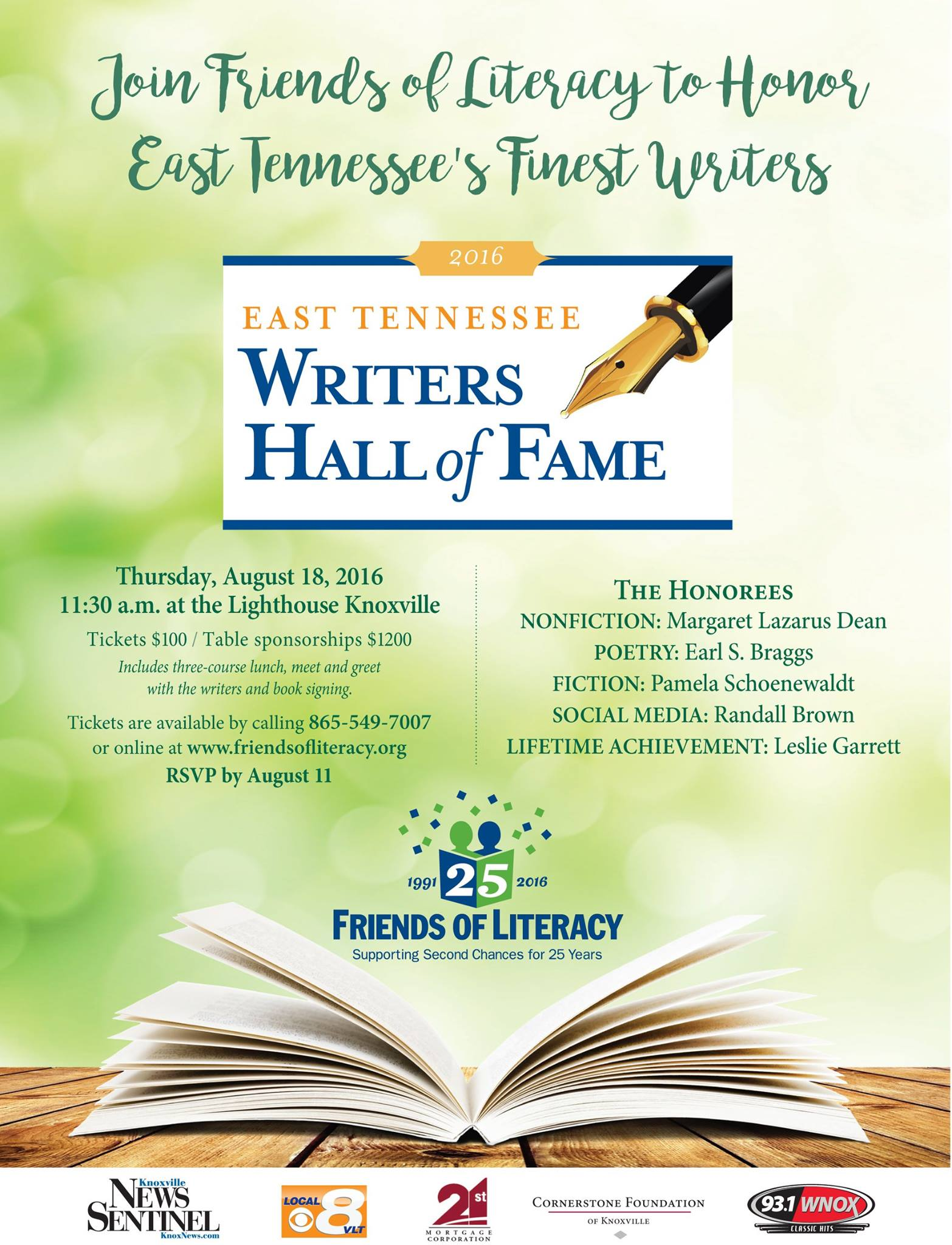 East TN Writers Hall of Fame
