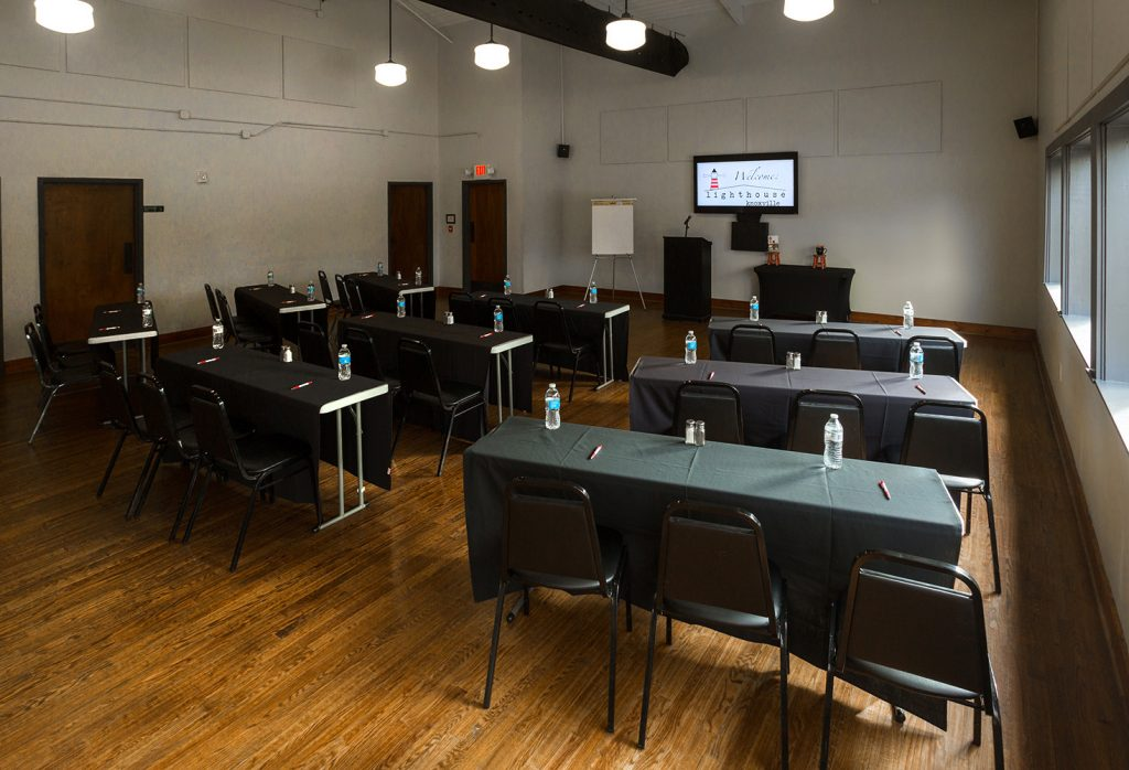 Lighthouse Knoxville The Schoolhouse room for weddings and parties
